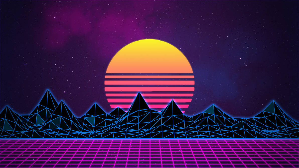 4k Wallpaper Wallpaper By Gstblack: Retrowave Neon 80's Background