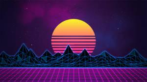 Retrowave Neon 80's Background - 4K