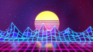 Synthwave - Neon 80s - Background - Render