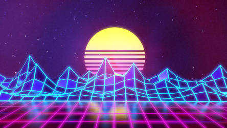 Synthwave - Neon 80s - Background - Render