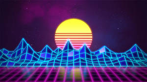 Synthwave - Neon 80s - Background - Render Revamp by Rafael-De-Jongh