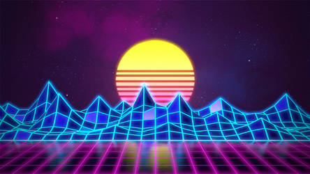 Synthwave - Neon 80s - Background - Render Revamp
