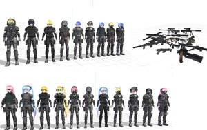 MMD TDA Combat Suits Beta DL by UnrealXActor