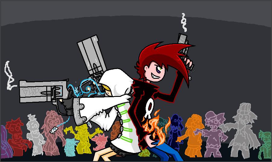 Ricochet's Encounter with Skull-Boy 2 by YouAskMeFirst2