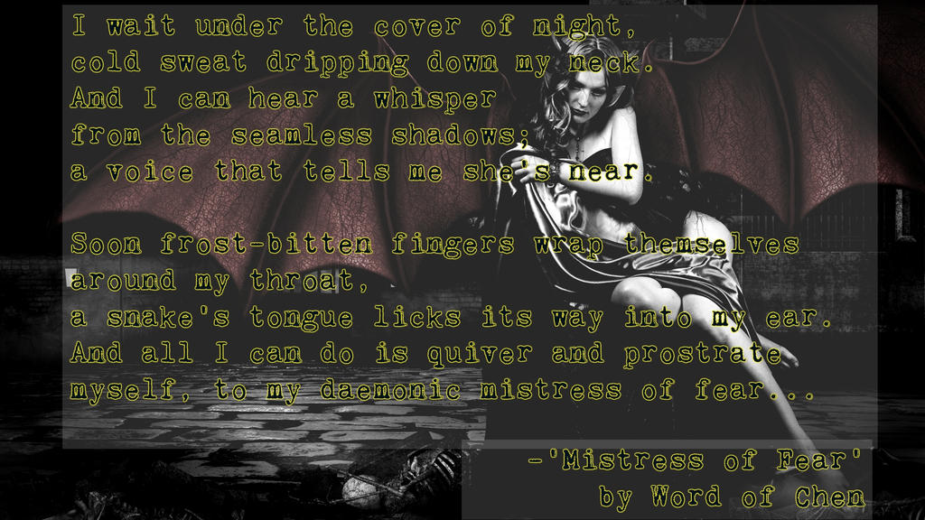 Mistress of Fear by WordOfChen