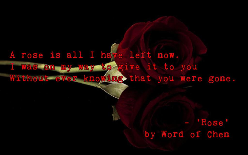 A Rose by WordOfChen