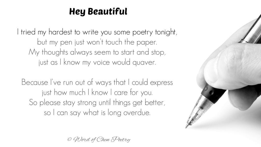 Hey Beautiful by WordOfChen