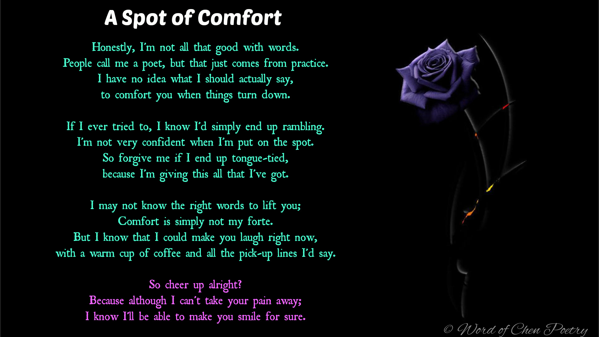 A Spot of Comfort by WordOfChen