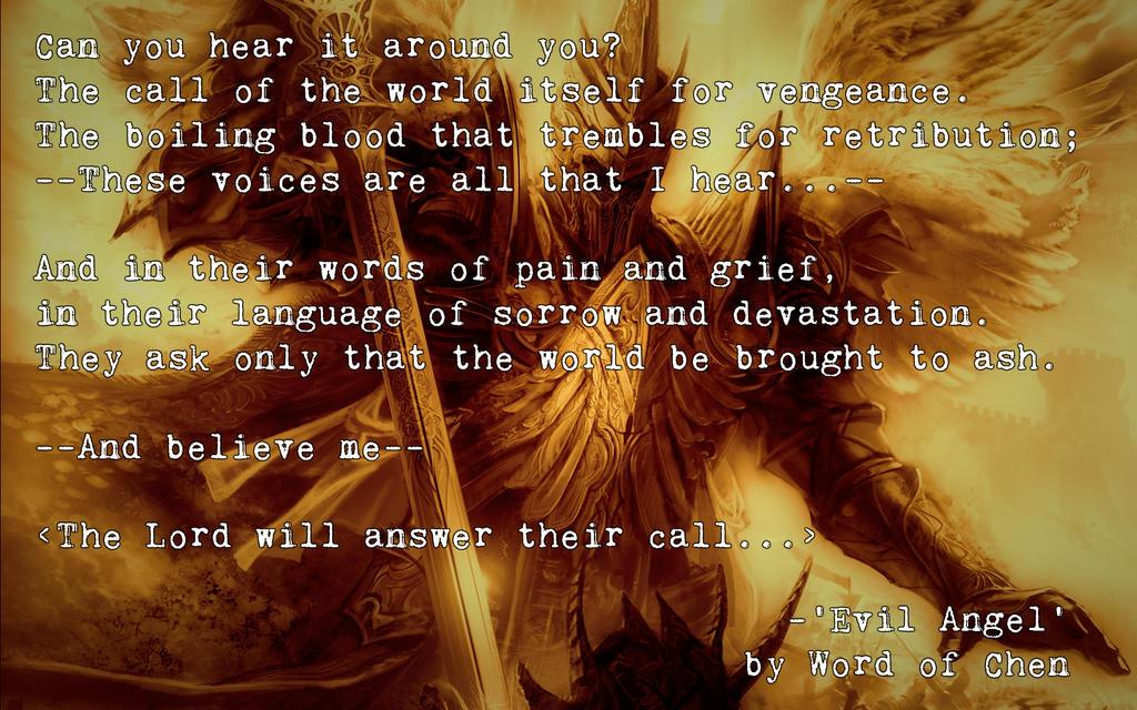 Evil Angel by WordOfChen