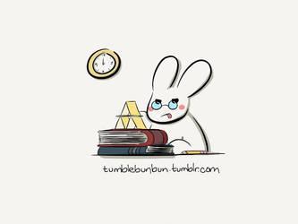 Studying by uberbunbun