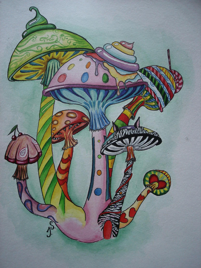magic mushrooms by suokaralius on deviantart
