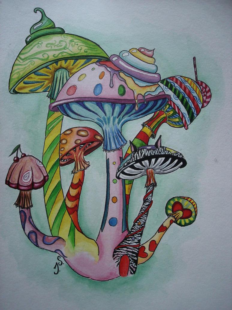 magic mushroom art - photo #20