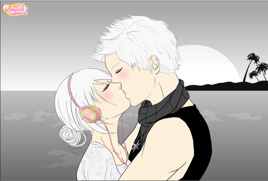 Ninjadash and Sweetaquawave Kissing.. by liongirl2289