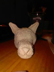 wolf head clay figure (wip)