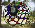 Dreamcatcher - Stained glass geode suncatcher