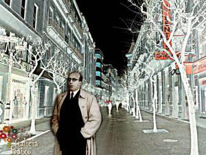 Don Ramon Otero Pedrayo,  pola Rua do Paseo