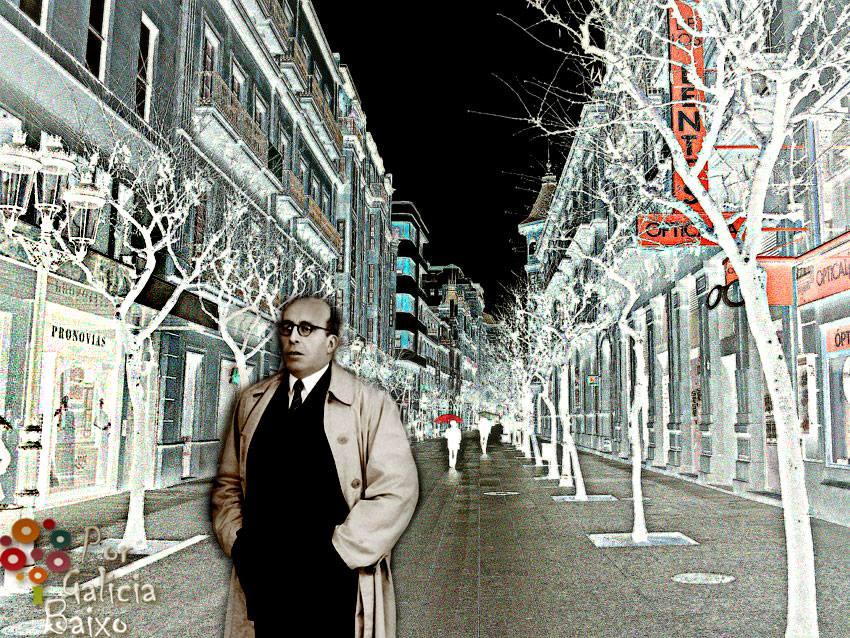 Don Ramon Otero Pedrayo,  pola Rua do Paseo by Porgaliciabaixo