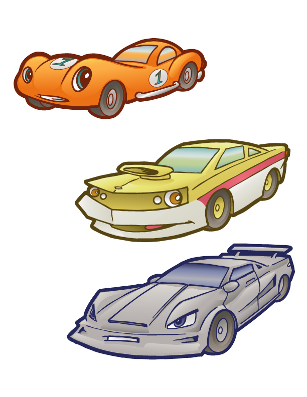 Cartoon Cars 2 by andrewchandler80