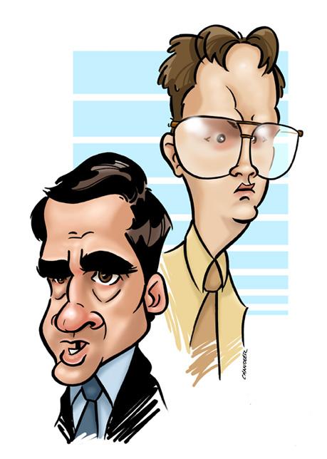 Scott and Schrute by andrewchandler80