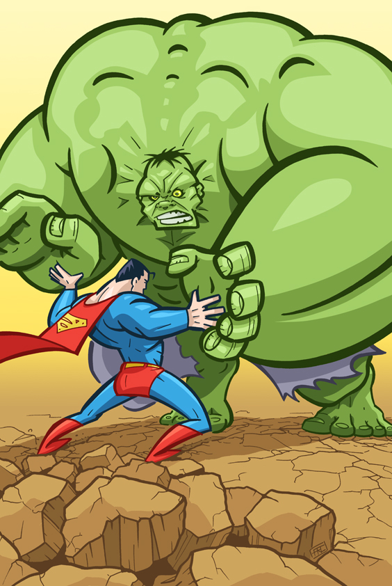 Superman vs. Hulk by andrewchandler80