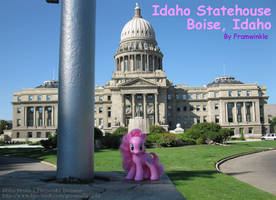Pinkie Pie at the Idaho Statehouse by Framwinkle