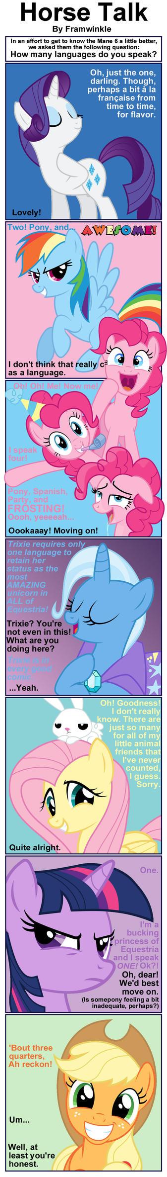 Horse Talk by Framwinkle