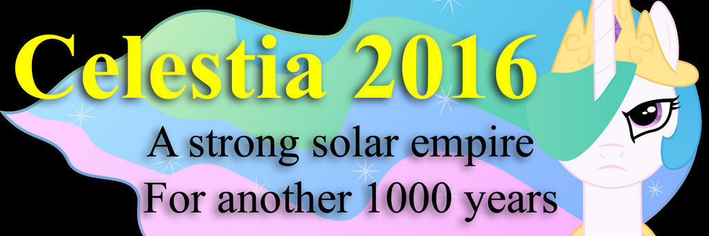 Celestia 2016 Bumper Sticker by Framwinkle