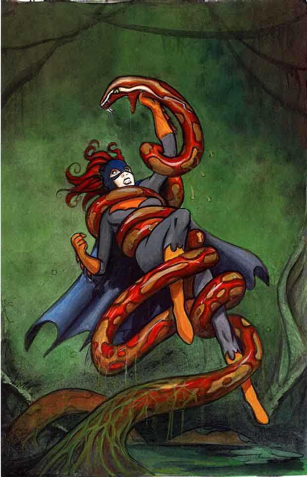 Batgirl vore batgirl blood python by sterma