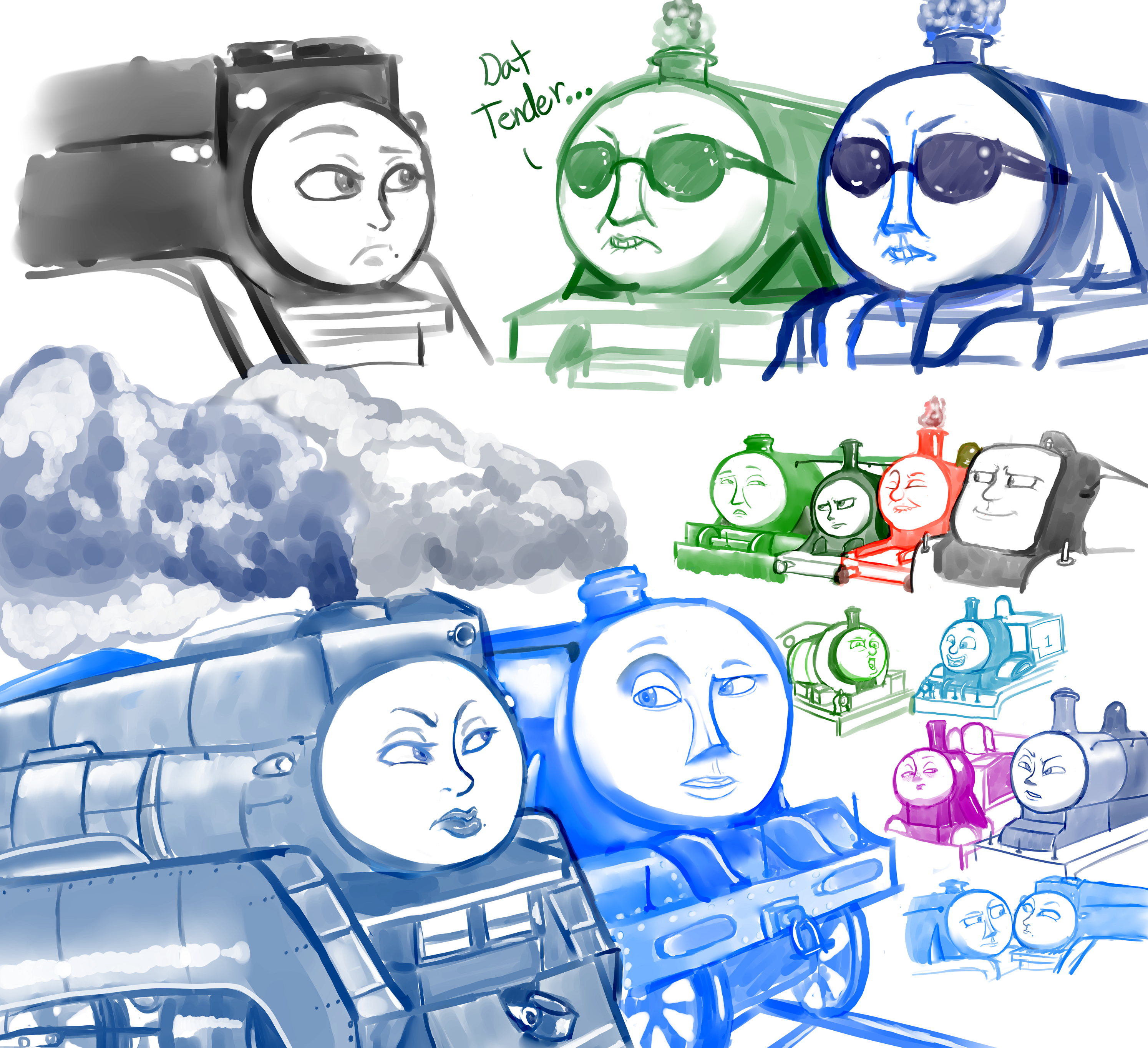 Thomas The Train Face Train Faces by