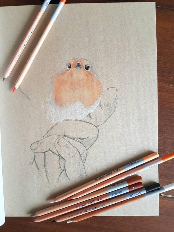 Sassy Red Robin - part 2 by Inge-Mertens