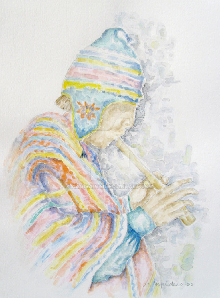 Indio con flauto by nagisarte