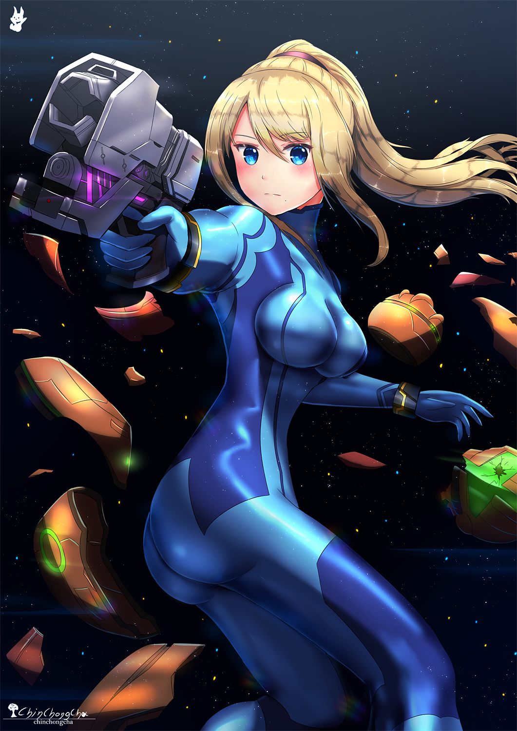Zero Suit Samus No Suit Hot Gif 3