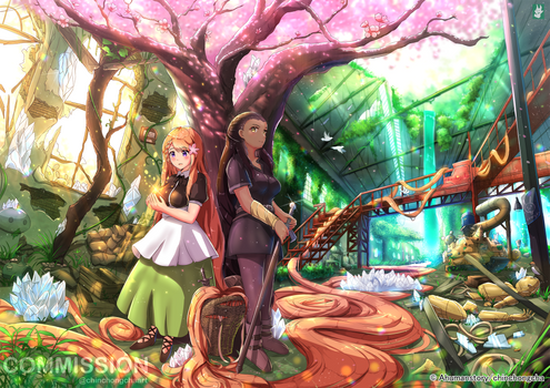 Commission : Chandra and Morrigan Journey