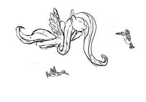 Fluttershy sketch