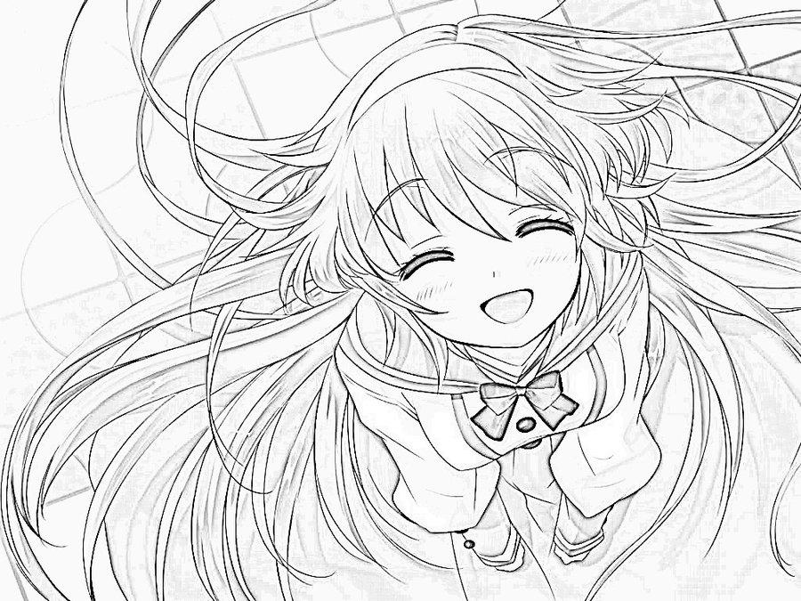 Anime girl drawing 2 by katkoyox d4tduf3 by dpunk352