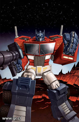 Optimus Prime Spotlight Cover