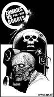 Zombies VS Robots PinUp
