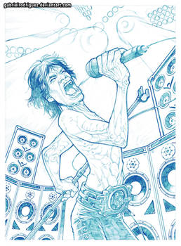 Mick -Ironman- Jagger pencils