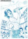 Mick -Ironman- Jagger pencils