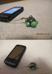 Clay Turtle Cellphone strap