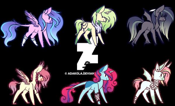 #19 Adoptables - Random Ponies[CLOSED] by AdaKola