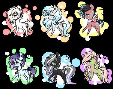#20 Adoptables - Random Ponies[CLOSED] by AdaKola