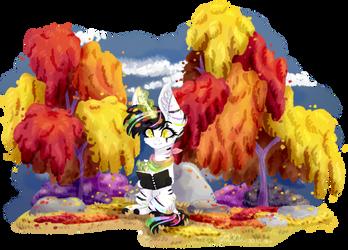 [OC]Drawing in Autumn by AdaKola