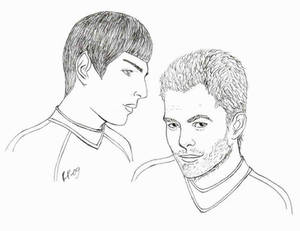 Spock and James T. Kirk