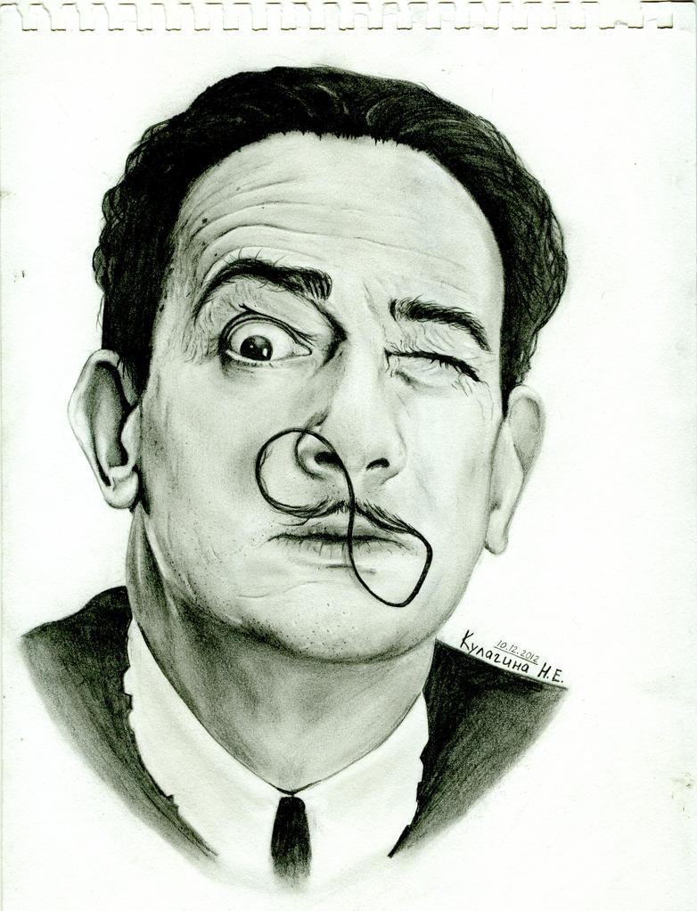 Salvador Dali by KulaginaNe