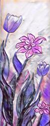 Purple and Pink Flowers  by miladyartist