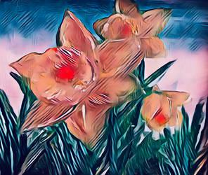 Daffodils  by miladyartist