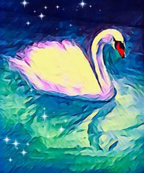Swan by miladyartist