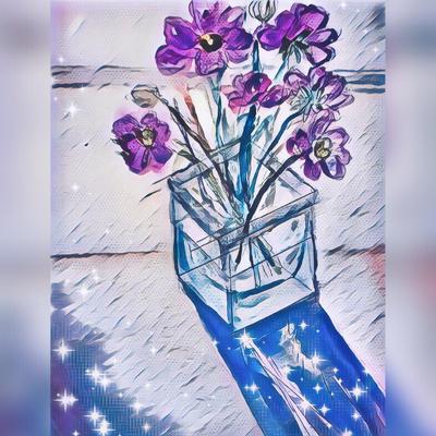 Flowers in a Vase by miladyartist