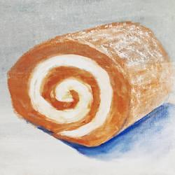 Pumpkin Roll Cake by miladyartist